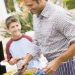 Father And Son Barbequing — Stock Photo #4785038