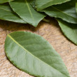 Stock Photo: Bay Leaves On Chopping Board