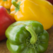 Different Coloured Peppers - Stockfoto