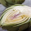 Stock Photo: Halved Artichoke