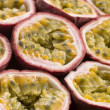 Stock Photo: Halved Passion Fruit