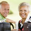 Couple Enjoying A Game Of Golf — Stock Photo