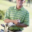 Stock Photo: Portrait Of A Male Golfer