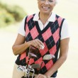Portrait Of A Female Golfer — Stock Photo