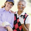 Portrait Of Two Female Golfers — Stock Photo