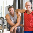 Stock Photo: Men At Gym Together