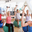 Instructor Taking Exercise Class At Gym — Stock Photo #4785372