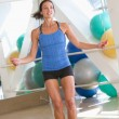 Woman Using Skipping Rope At Gym — Stock Photo #4785378