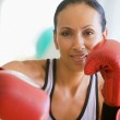 Woman Boxing At Gym — Stock Photo