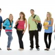 Group Shot Of Teenage School Kids - Stock Photo