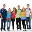 groepsfoto van teenage school kids — Stockfoto #4785805