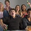 Teenagers Having Fun And Eating Pizza — Stock Photo #4785838
