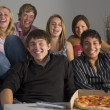 Teenagers Having Fun And Eating Pizza — Stock Photo #4785839