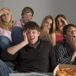 Teenagers Having Fun And Eating Pizza — Stock Photo #4785840