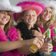Dressed Up Teenage Girls Enjoying Drinks - Photo