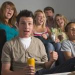 Teenagers Enjoying Drinks Together — Stock Photo #4785855