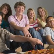 Teenagers Having Fun And Eating Pizza — Stock Photo #4785857