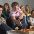 Teenagers Having Fun And Eating Pizza — Stock Photo #4785858