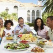 Family Eating An Al Fresco Meal — Stock Photo #4787092
