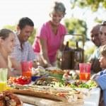 Family Dining Al Fresco — Stock Photo #4787139