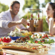 Couple Dining Al Fresco — Stock Photo