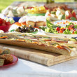 Al Fresco Dining, With Food Laid Out On Table — Stock Photo