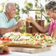 Stockfoto: Couple Dining Al Fresco