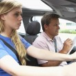 Teenage Girl Taking A Driving Lesson — Stock Photo