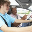 Teenage Boy Taking A Driving Lesson — Stock Photo