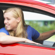 Stock Photo: Teenage Girl Sitting In Car