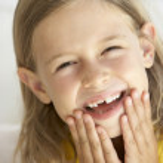 Portrait Of Girl Smiling — Stock Photo