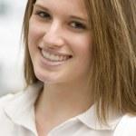 Portrait Of Teenage Girl Smiling — Stock Photo #4787892