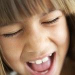 Portrait Of Girl Screaming — Stock Photo