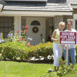 Stock Photo: Man, Woman, My House, Couple, Selling, House, Happy, Home, Home