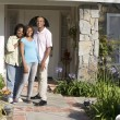 Man, Woman, My House, Couple, Front Yard, House, Happy, Home, La — Stock Photo