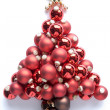 Christmas Tree Made From Baubles - Stock Photo