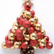 Christmas Tree Made From Baubles — Stok fotoğraf