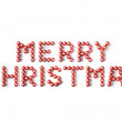 Christmas Baubles Spelling Merry Christmas — Foto Stock