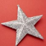 Silver Christmas Tree Decoration — Stock Photo