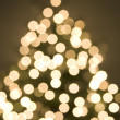 Abstract view of christmas tree and lights - Stock Photo