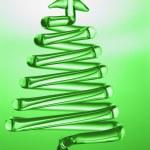 Tree shaped christmas decoration — Stock Photo