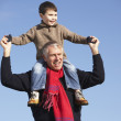 Grandfather Carrying Grandson On His Shoulders — Stock Photo #4788634