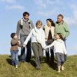 Stock Photo: Family Walking In Park