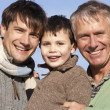 Portrait Of Grandfather, Father And Son — Stock Photo