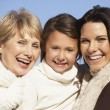Portrait Of Grandmother, Mother And Daughter - Stock Photo