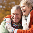 Portrait Of Senior Couple Hugging — Stock Photo