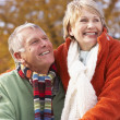 Portrait Of Senior Couple Hugging — Stock Photo