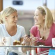 Female Friends Having Lunch Together At The Mall — Stock Photo #4788929