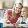 Mother And Daughter Having Lunch Together At The Mall — Stock Photo #4788942