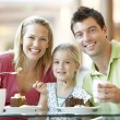 Family Having Lunch Together At The Mall — Stock Photo #4788946